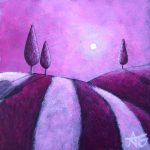 """Day 33 - Pink Evening, 3""""x3"""""""