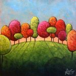 """Day 58 - Autumn Clearing, 3""""x3"""""""