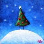 "Number 100 - Christmas...Finally!, 3""x3"""