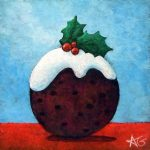 "Number 90 - Christmas Pudding, 3""x3"""
