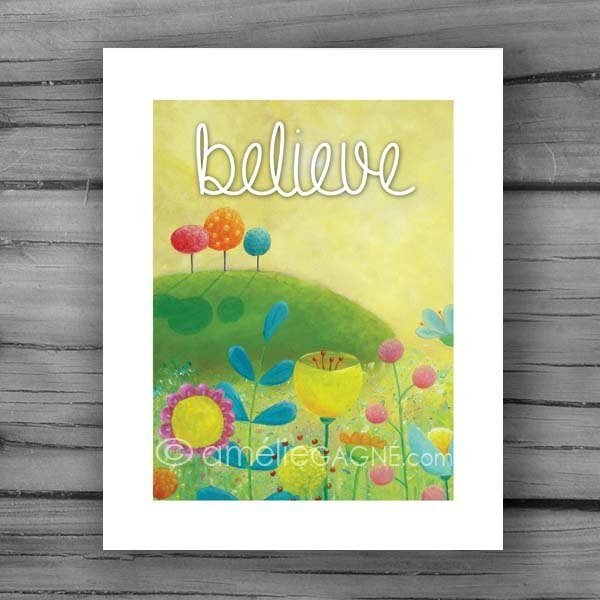 Yellow inspirational print