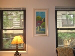 """Strawberry Hills"", hanging in New York City."