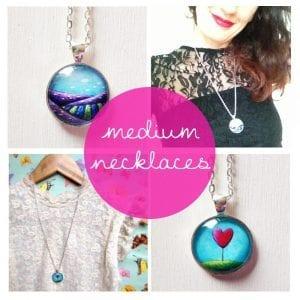 """medium necklaces (1"""")"""