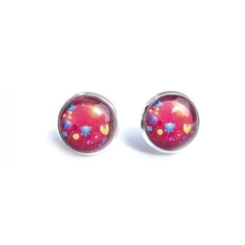 red post earrings