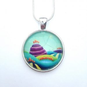 Turquoise and purple necklace