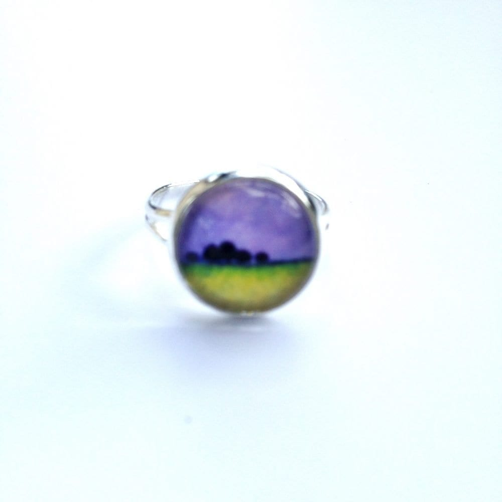 purple glass ring