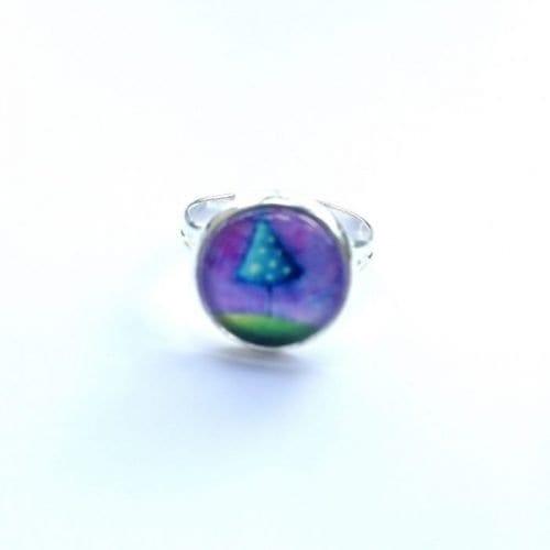 small purple ring