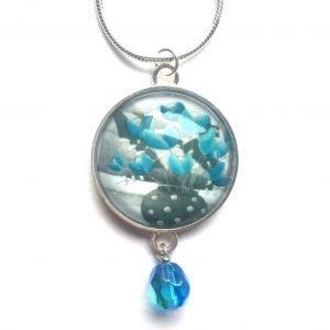 Blue bead pendant Amélie Gagné Studio
