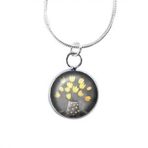 Mini yellow and grey necklace