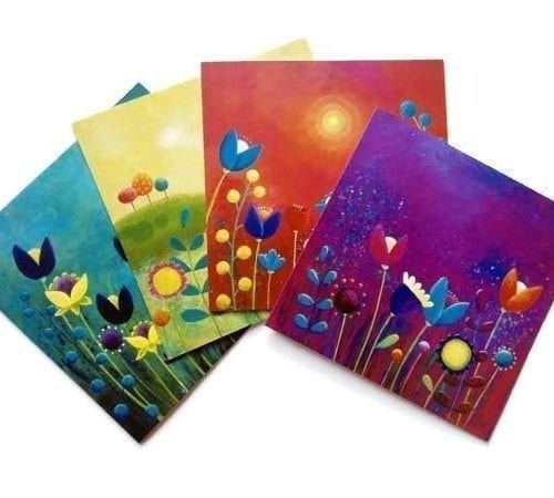 Blank floral cards