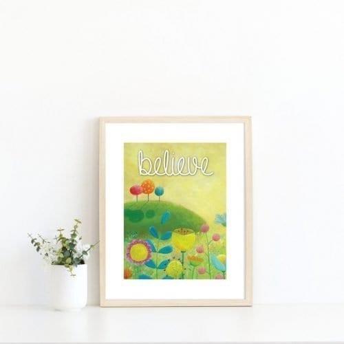 Yellow inspirational print