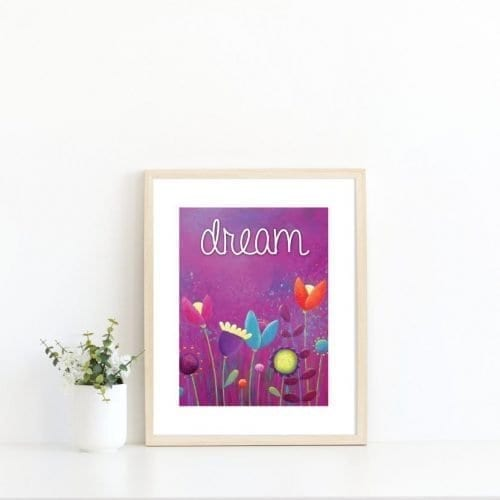 Purple printable print