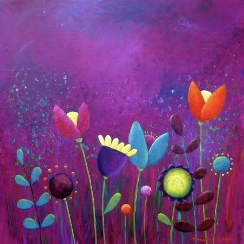 Purple haze original painting