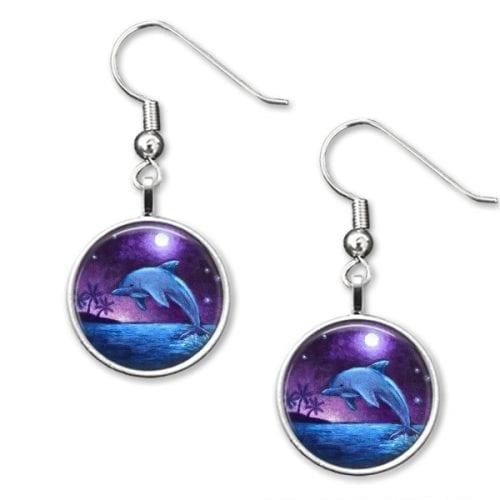 Dolphin drop earrings