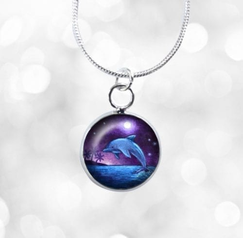 Small dolphin necklace